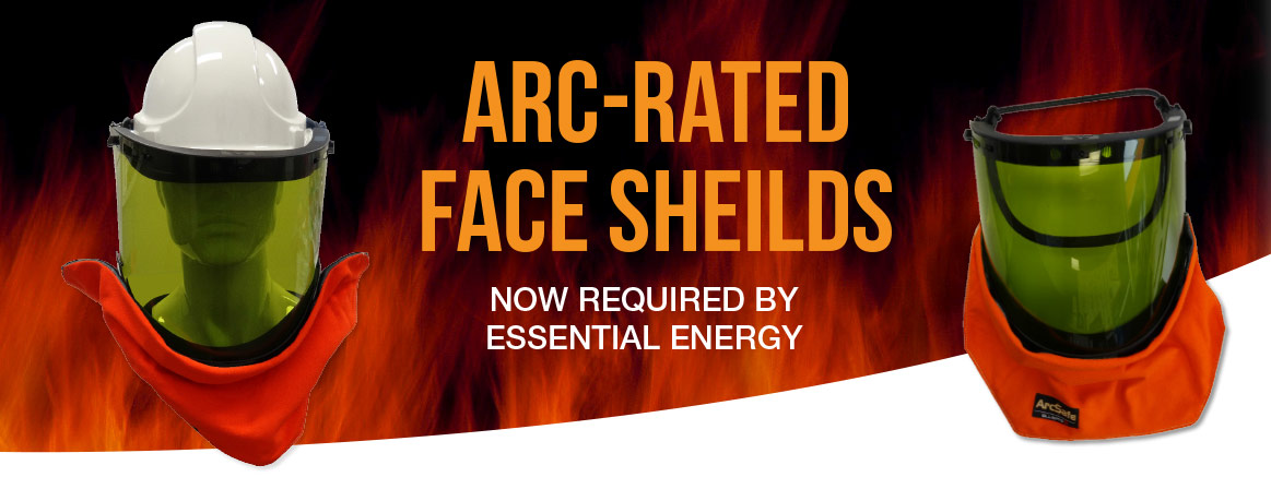 Arc-rated face shields