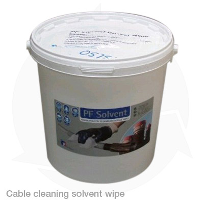 cable cleaning solvent wipe