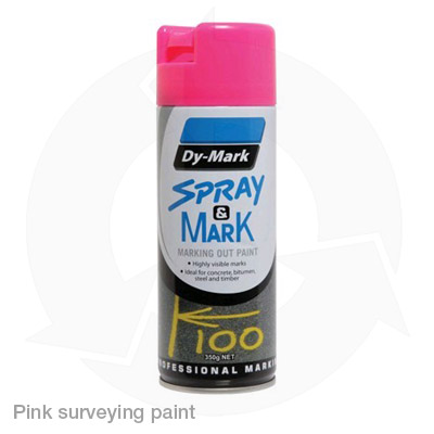 pink surveying paint