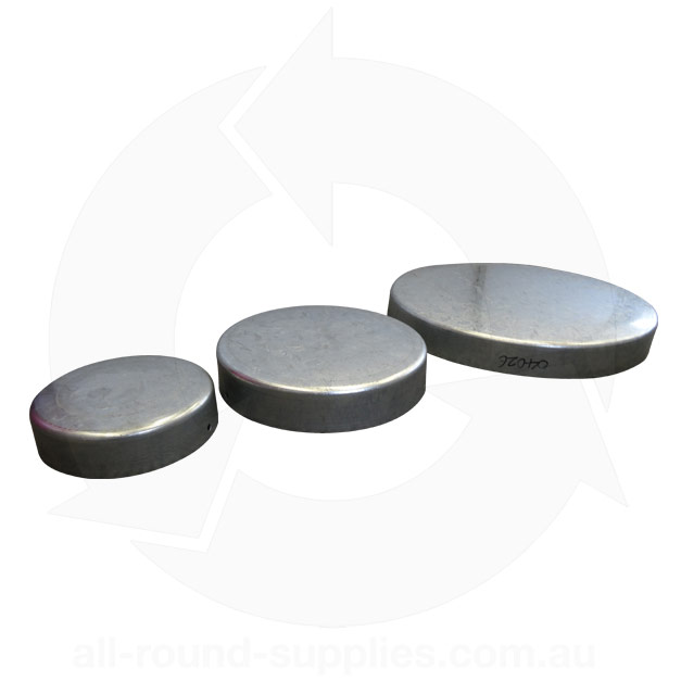 galvanised steel pole caps