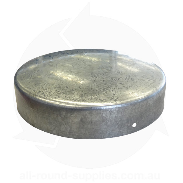 pole cap galvanised steel