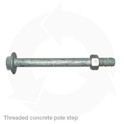 threaded concrete pole step