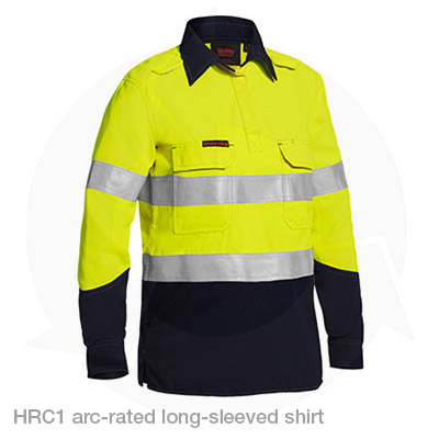 adbda72bbd22 ... HRC1 PPE1 arc rated long sleeved shirt yellow ...