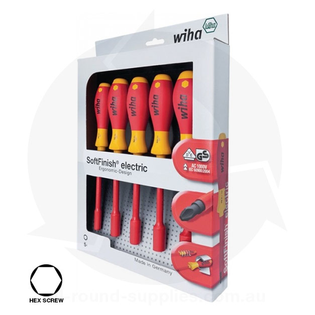 wiha hex nut driver boxed set