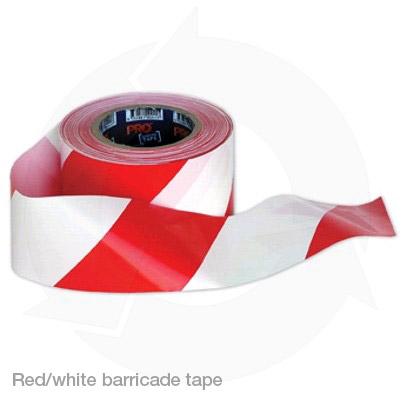 red white barricade tape