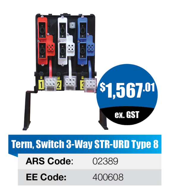 Switch 3-way STR-URD Type 8