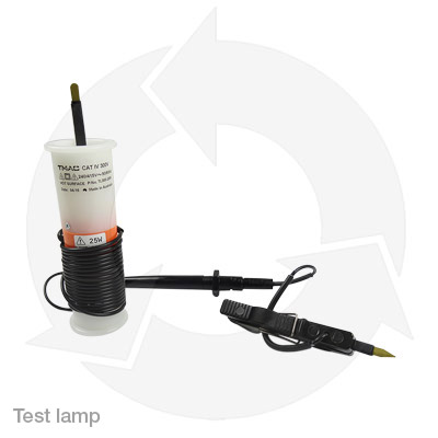 test lamp