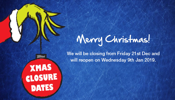 Xmas closure dates