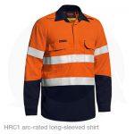 arc rated long sleeved shirt orange