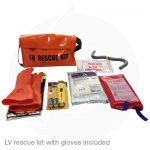 LV rescue kit with insulated gloves