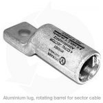 aluminium lug with rotating barrel for sector cable