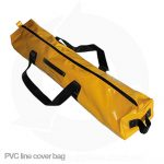 balmoral yellow pvc line cover bag with zipper