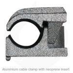 cabus cast aluminium neoprene cable clamp