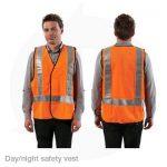 day night hivis orange safety vest