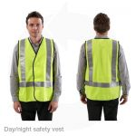 day night hivis yellow safety vest
