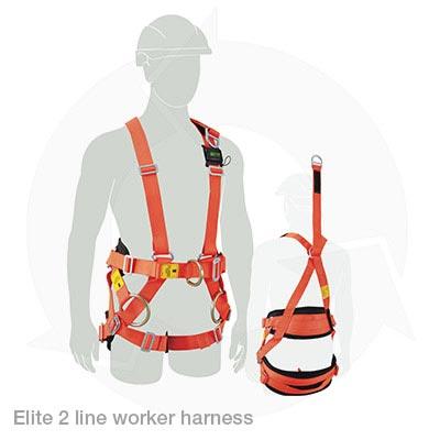 elite 2 line worker harness