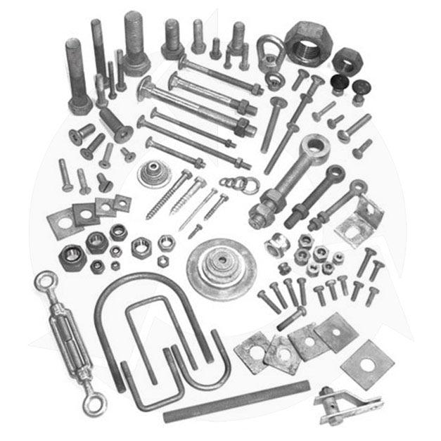 Galvanised screws nuts washers