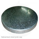 galvanised steel pole cap