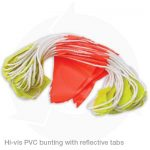 hi vis pvc bunting with reflective tabs
