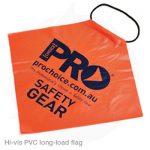 hi vis pvc long load flag