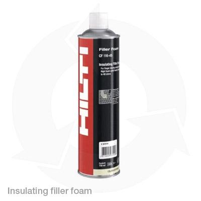 Hilti insulating filler foam