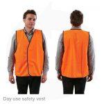 hivis day safety vest orange