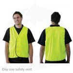 hivis day safety vest yellow