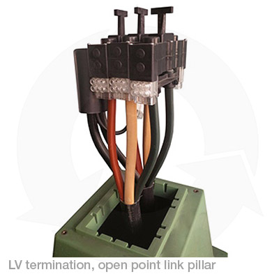 LV termination open point link pillar