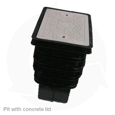 pit with concrete lid