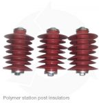 Polymer station post insulators