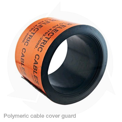 polymeric cable cover guard