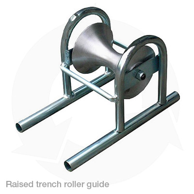 raised trench roller guide