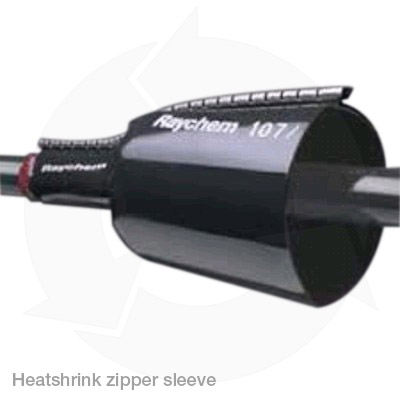 Raychem heatshrink cable repair zipper sleeve