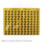 stick on numerals