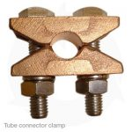 Tube connector clamp