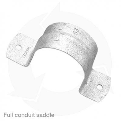 clipsal galvanised full conduit saddle