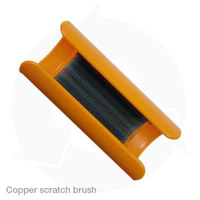 Copper scratch brush