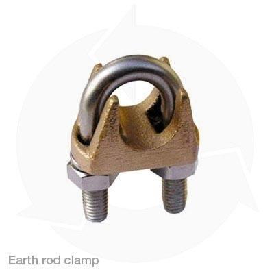Earth rod clamp