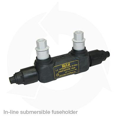 In-line submersible fuse holder
