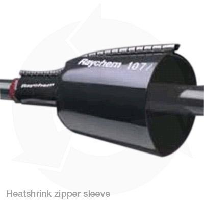 Raychem heatshrink cable repair zipper sleeve