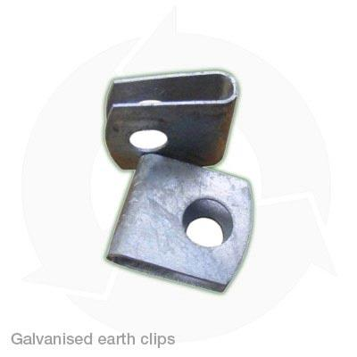 Galvanised earth clips