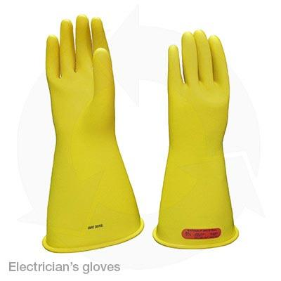 electricians gloves insulated rubber