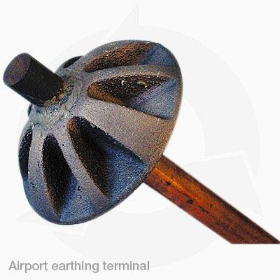 Airport earthing terminals